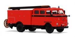 SES/ Modelltec  IFA W 50 LF 16 tagesleuchtrot  mit schwarzer Bauchbinde Feuerwehr