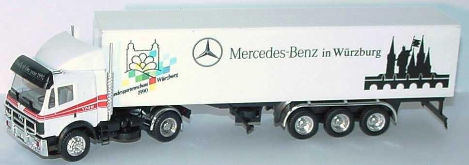 """Herpa MB SK Koffersattelzug 2/3 """"Mercedes-Benz in Würzburg, Landesgartenschau 1990""""  -Einzelstück-"""