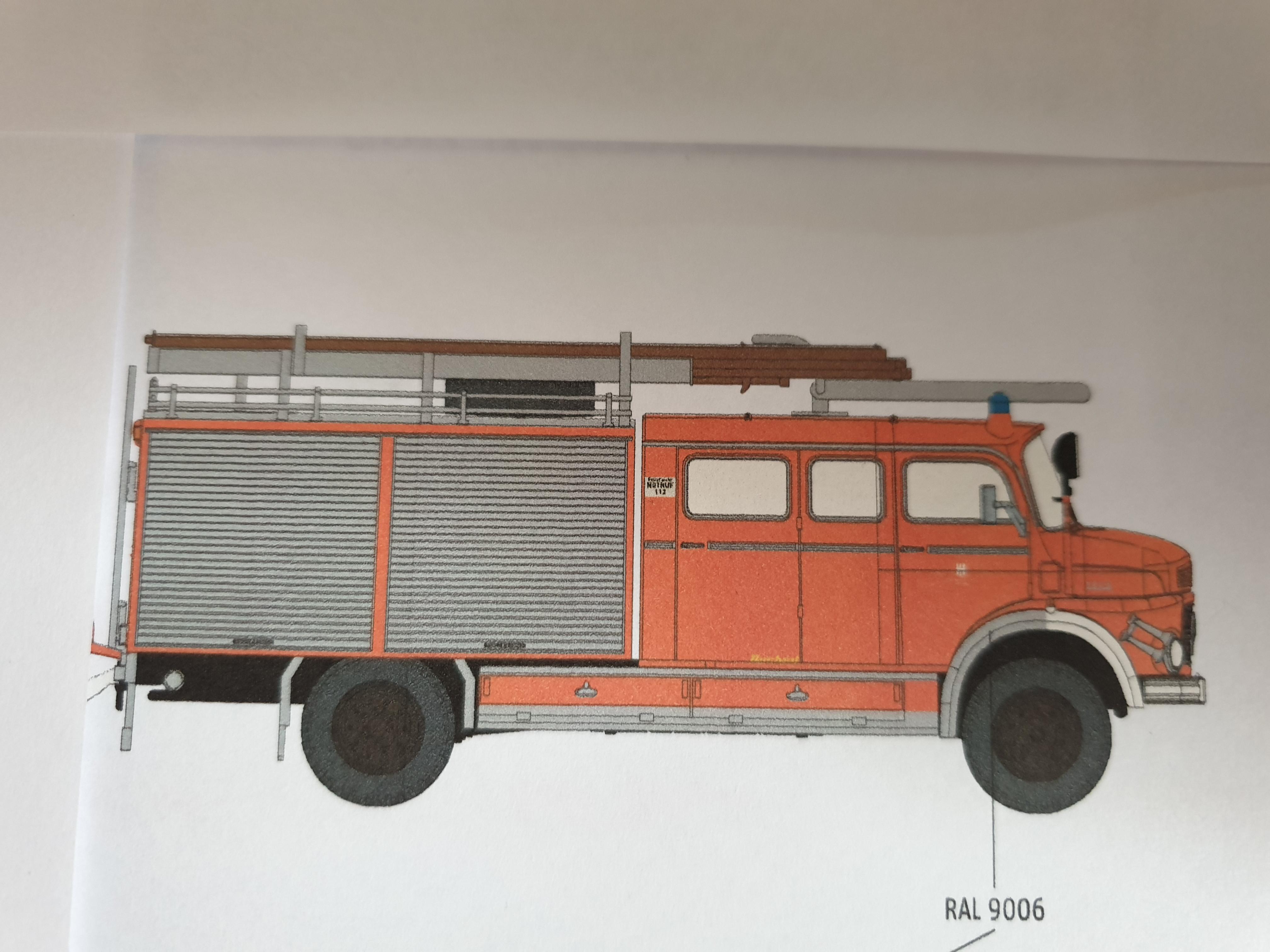 Brekina MB LAF 1113 TLF 16/25 Feuerwehr Hamburg Billstedt (BF), Vorbestellung / Modell noch nicht lieferbar !!!