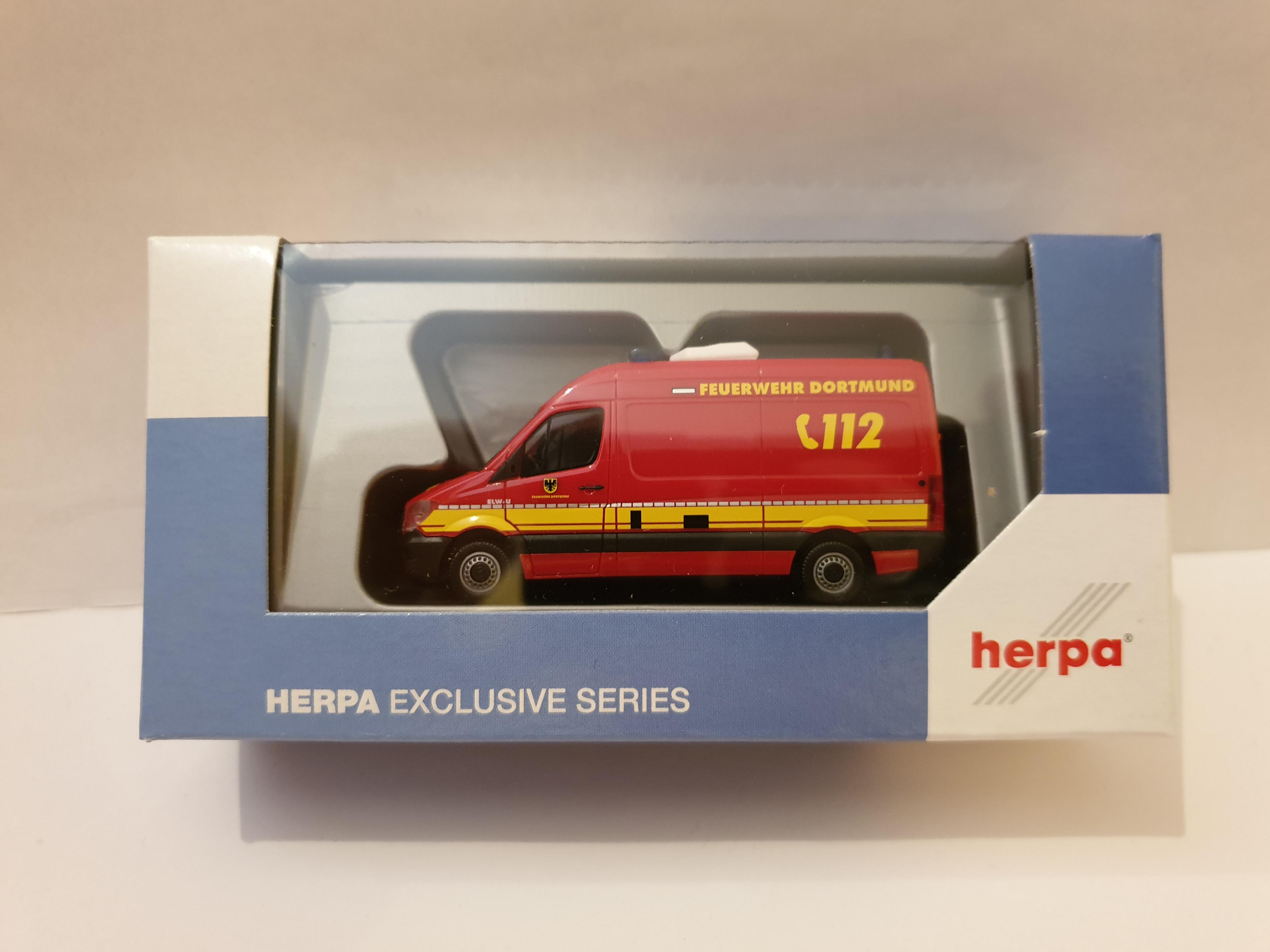 Herpa MB Sprinter 13 GW-U Feuerwehr Dortmund, Sondermodell Intermodellbau 2019