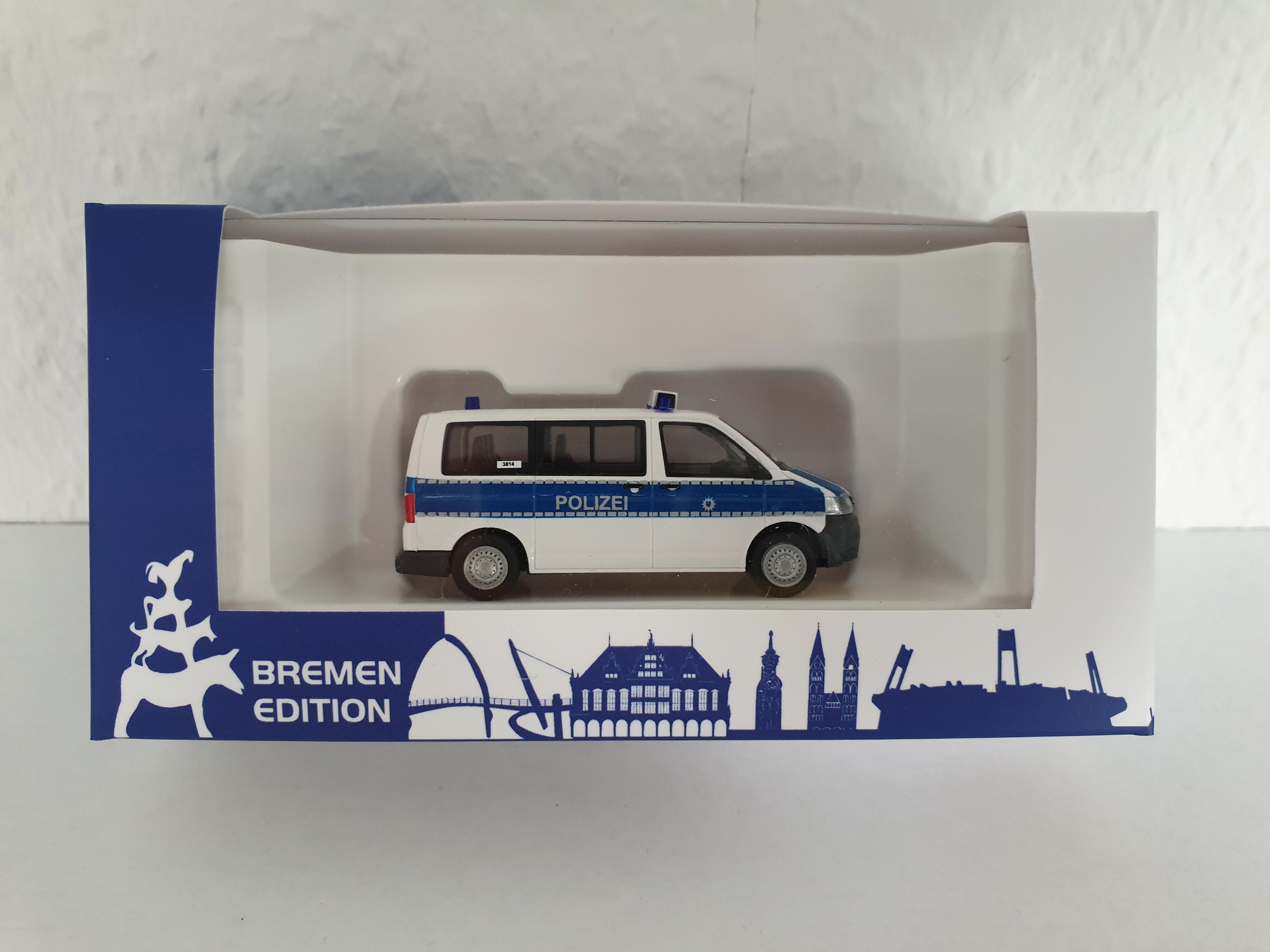 """Rietze """"Polizei Bremen - VW T5 KR """"Umweltgruppe/Gefahrgutkontrolle"""""""
