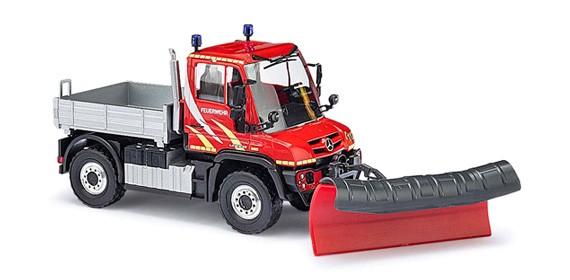 Busch MB U 430 Feuerwehr mit Schneeschieber -Einzelstück-