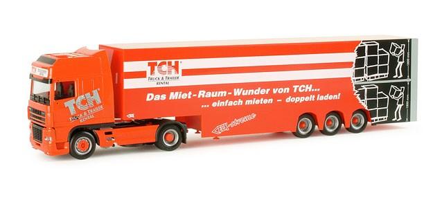 "Herpa DAF XF 95 Eurokoffer-Sattelzug ""TCH"" -Einzelstück-"