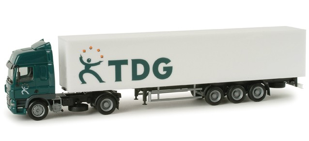 "Herpa  DAF CF Koffer-Sattelzug ""TDG"" (NL) -Einzelstück-"