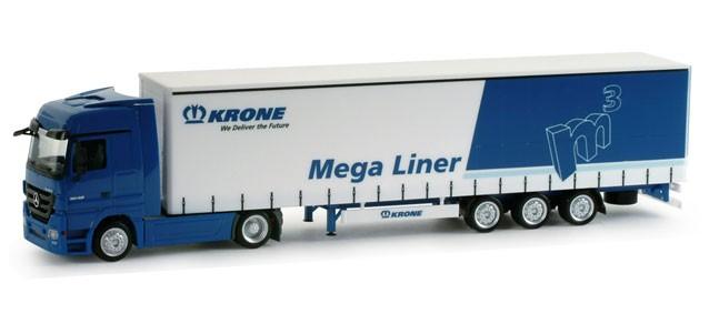 Herpa MB Actros LH MP3 Mega Liner Sattelzug Krone,-Einzelstück-