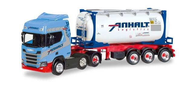 """Herpa Scania CR20 HD Swapcontainer-Sattelzug """"Spedition Anhalt"""" -Einzelstück-"""