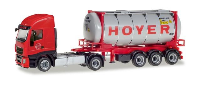 "Herpa  Iveco Stralis XP Swapcontainer-Sattelzug ""Hoyer Chemie"""