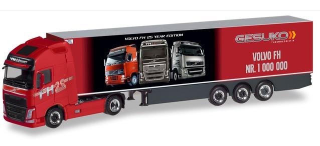 """Herpa Volvo FH GL XL Kühlkoffer-Sattelzug """"Gesuko / der 1.000.000ste Volvo"""""""