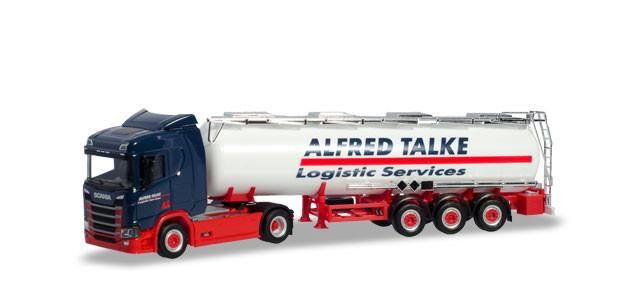 "Herpa  Scania CR 20 ND Chemietank-Sattelzug ""Alfred Talke"""