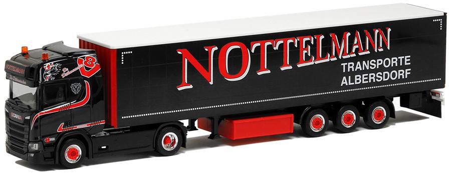 Herpa Scania CR HD Medi GardPlAuflieger Nottelmann Transporte Albersdorf