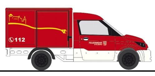 """Rietze Streetscooter Work """" Feuerwehr Stolberg """", NH Frühjahr 20`,(Vorbestellung / Modell noch nicht lieferbar !!!)"""