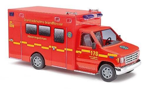 Busch Ford E-350 RTW Feuerwehr Stockholm