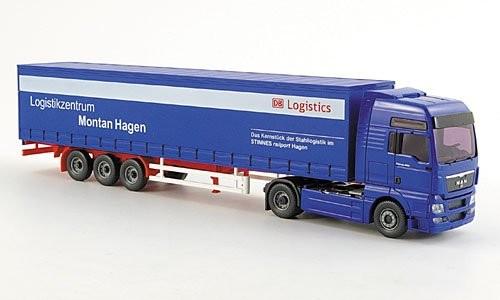 Wiking MAN TGY Gardinenplanen-Sattelzug DB Logistics -Einzelstück-