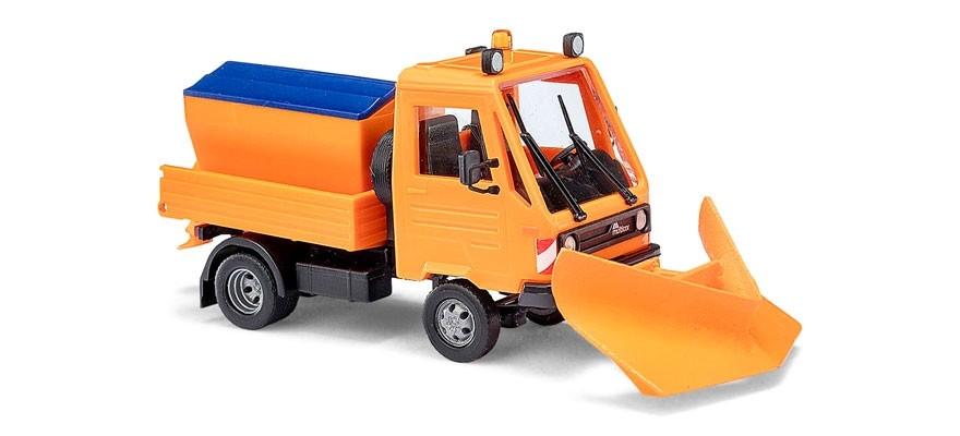 Busch Multicar mit Spitzpflug und Streuaufsatz -Einzelstück-