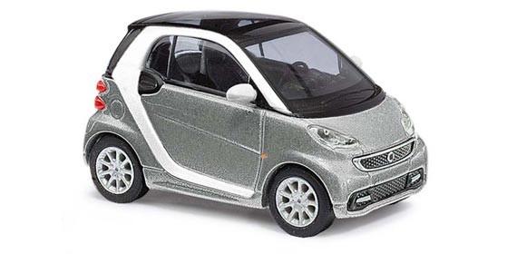 Busch Smart Fortwo Coupé 2012, silber metallic, CMD-Collection -Einzelstück-