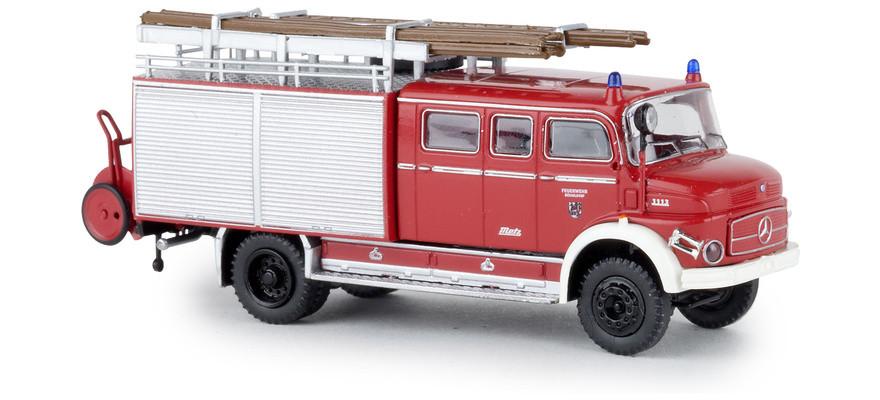Brekina MB LAF 1113 LF 16 Feuerwehr Düsseldorf, NH 03-04/19