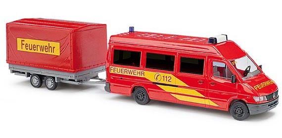 Busch MB Sprinter mit Anhänger Feuerwehr
