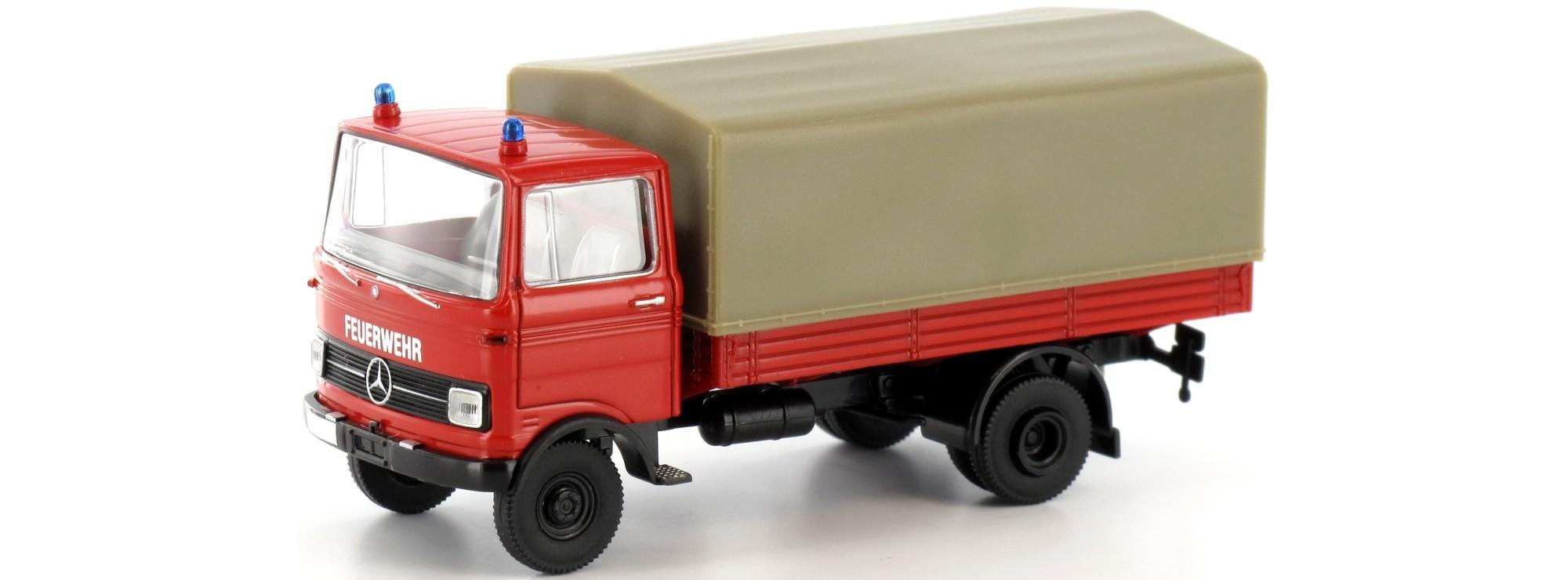 Brekina MB LP 608 PP Feuerwehr Blaulichtmodell (Restmenge)