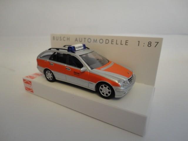 """Busch MB C-Klasse T-Modell """"Dornier Werksfeuerwehr"""""""
