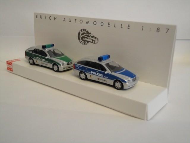 Busch MB C-Klasse Set Polizei Rheinland-Pfalz