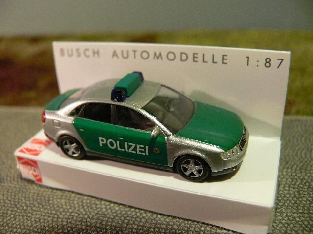 Busch Audi A4 Limousine Polizei (Restmenge)