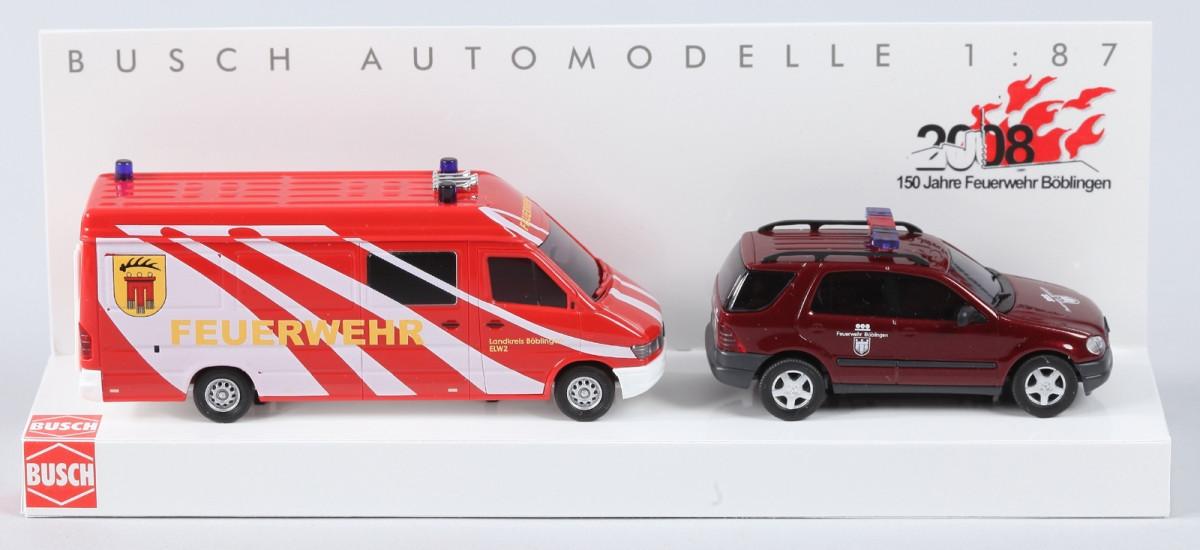Busch MB M-Klasse + MB Sprinter 96 Feuerwehr Böblingen im Set