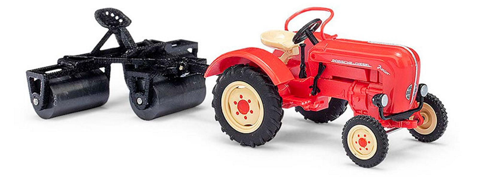 Busch Traktor Porsche Junior K mit Ackerwalze -Einzelstück-