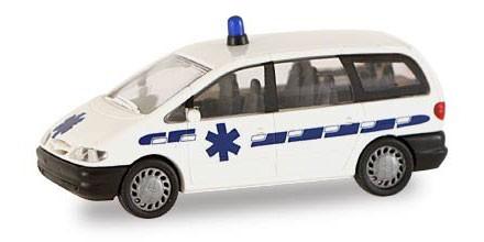 Rietze Ford Galaxy Ambulance Frankreich (Einzelstück)