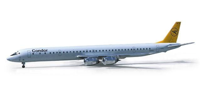 Herpa 1:500  Condor Douglas DC-8 -Einzelstück-
