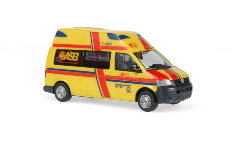 Rietze VW T5 LR HD Hornis KTW ASB RV Ulm