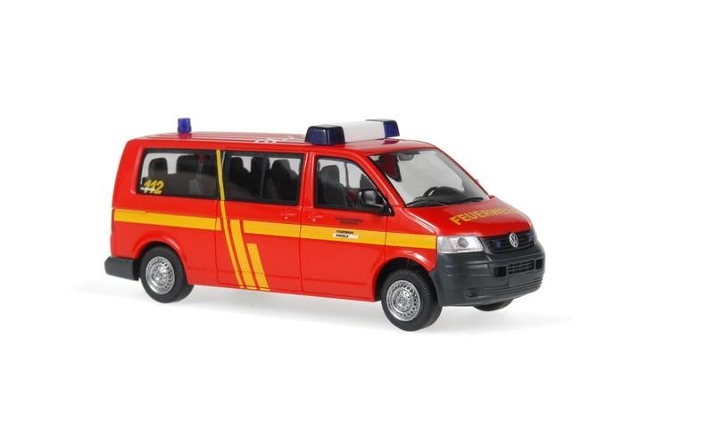 Rietze VW T5 Bus Feuerwehr Krefeld