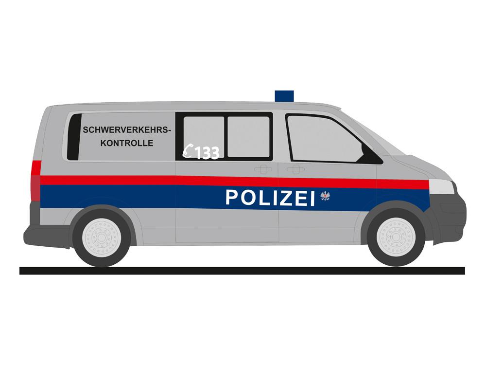 Rietze VW T5 `10 Polizei (A) Schwerverkehrskontrolle, NH 03-04/19,(Vorbestellung / Modell noch nicht lieferbar !!)
