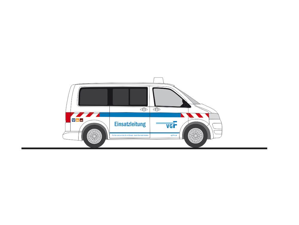 """Rietze VW T5`10 """" VGF Einsatzleitung Frankfurt """", NH 05-06/20,(Vorbestellung / Modell noch nicht lieferbar !!!)"""