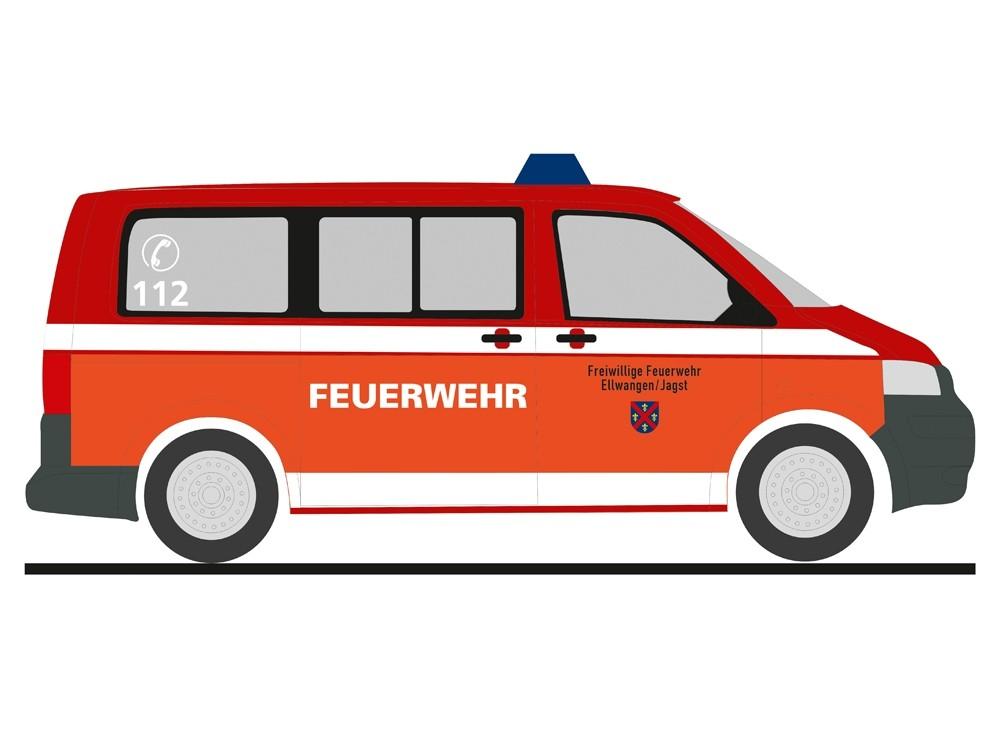 Rietze Einsatz-Serie VW T5 `03 Feuerwehr Ellwangen / Jagst