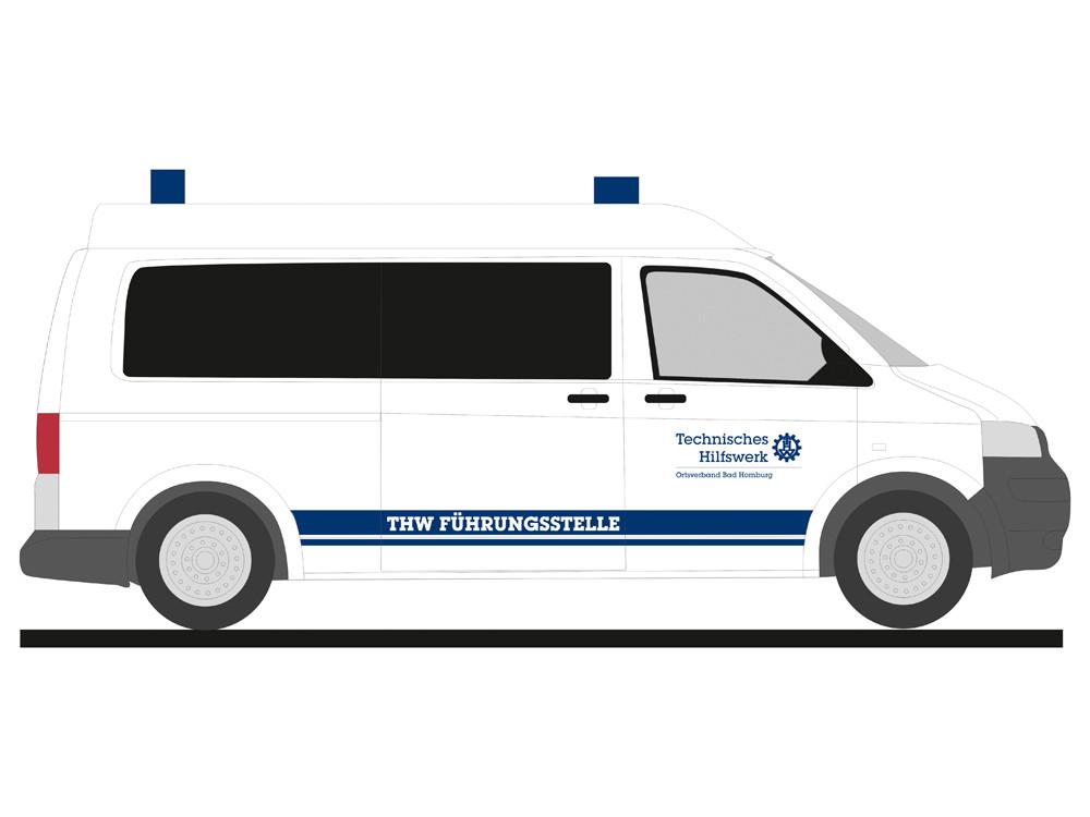 Rietze VW T5 `03 THW Bad Homburg, NH 03-04/19,(Vorbestellung / Modell noch nicht lieferbar !!!)