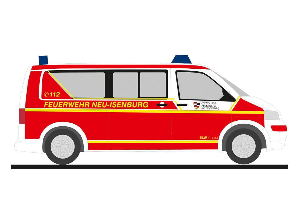 Rietze VW T5 `03 Feuerwehr Neu-Isenburg, NH 03-04/19