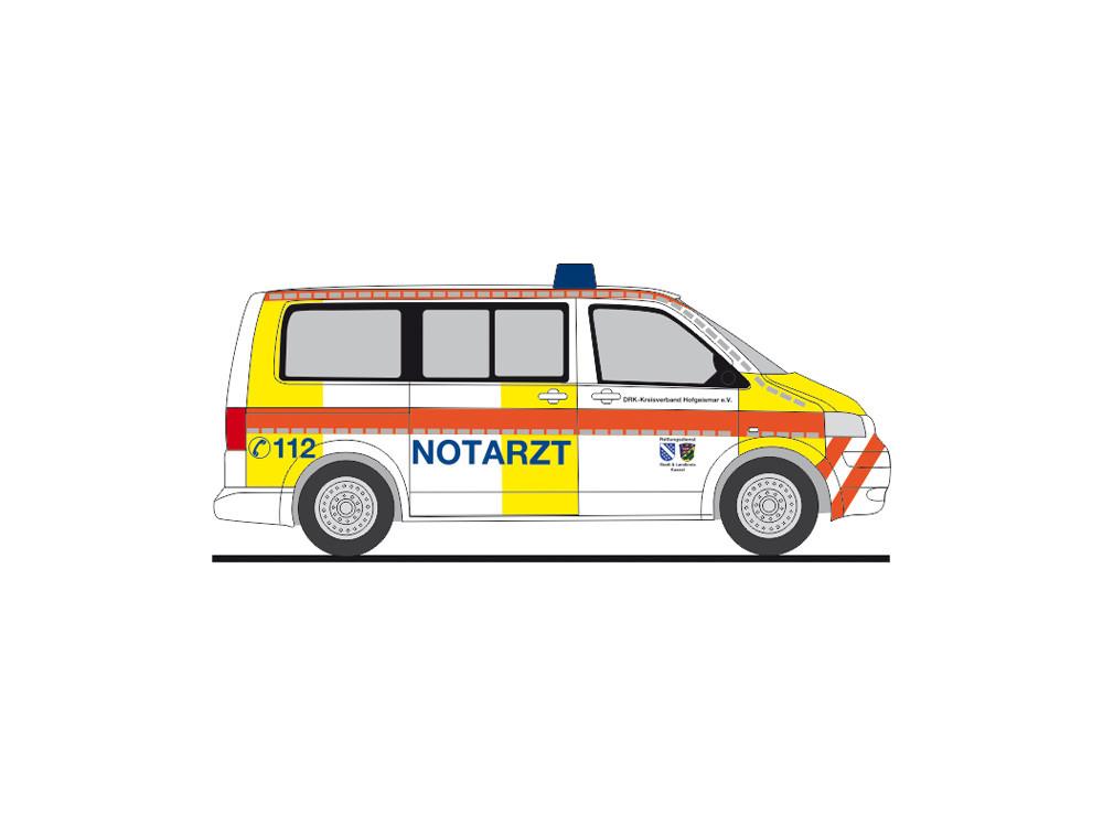 """Rietze Einsatz-Serie VW T5 """" NEF DRK LK Kassel  """", NH 09-10/20,(Vorbestellung / Modell noch nicht lieferbar !!!)"""