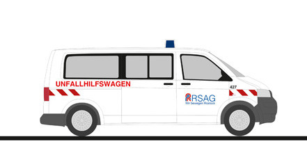 """Rietze VW T5 """" Unfallhilfswagen Rostock """", NH 11-12/20,(Vorbestellung/Modell noch nicht lieferbar !!!)"""