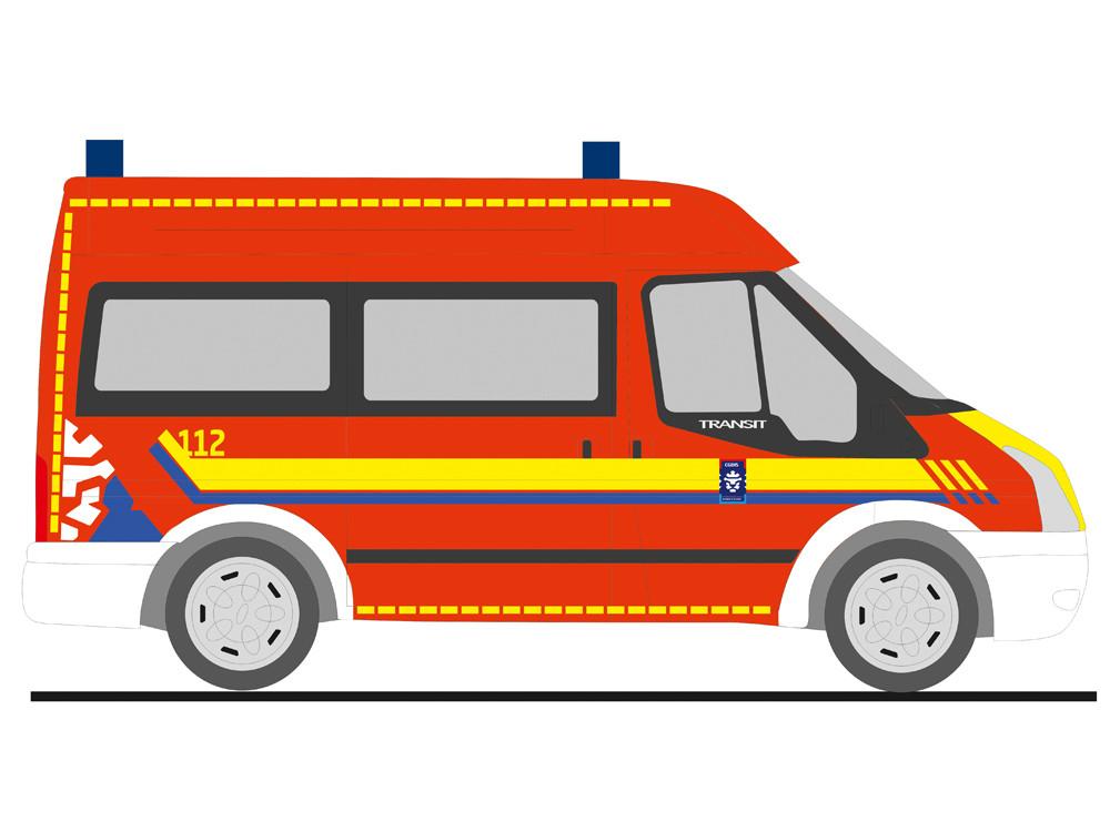 Rietze Ford Transit Verwaltung Rettungsdienst Luxemburg-CGDIS, NH 05-06/19,(Vorbestellung / Modell noch nicht lieferbar !!!)