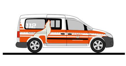 """Rietze VW Caddy Maxi`11 """" BF Wolfsburg """", NH 11-12/20,(Vorbestellung / Modell noch nicht lieferbar !!!)"""