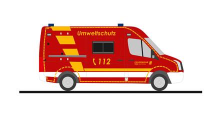 """Rietze VW Crafter`11 """" Feuerwehr (BF) Wuppertal Umweltdienst """", NH 11-12/20,(Vorbestellung / Modell noch nicht lieferbar !!)"""