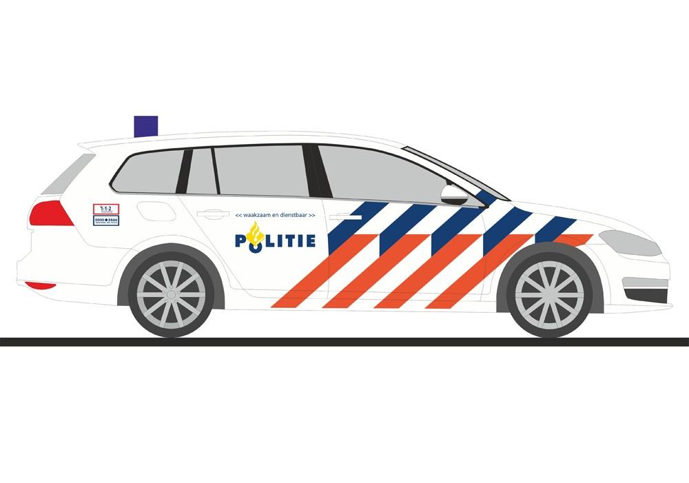 Rietze VW Golf 7 Variant Politie (NL), NH Herbst 2016, ( Vorbestellung / Modell noch nicht lieferbar !!!!)