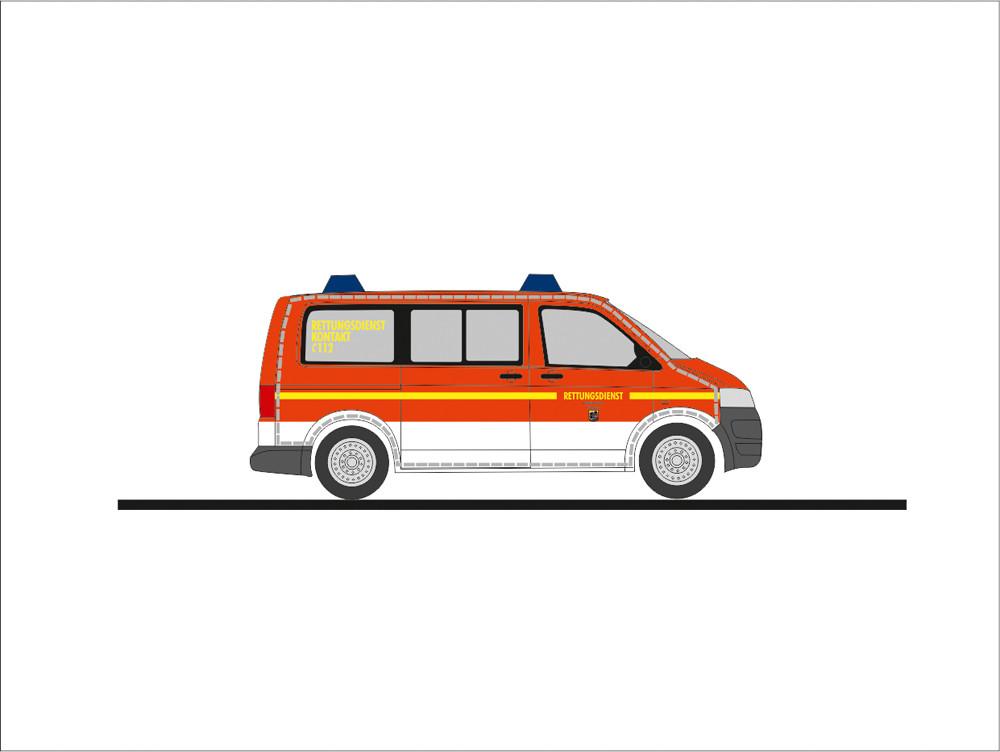 Rietze VW T5`10 NEF Feuerwehr Flensburg (BF), NH 09-10/19,(Vorbestellung / Modell noch nicht lieferbar !!!)