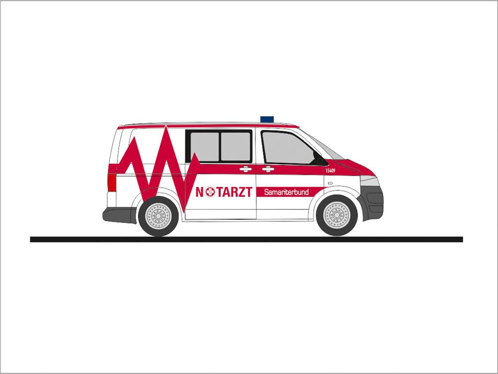 Rietze VW T5 NEF Samariterbund Linz (AT), NH 09-10/19, (Vorbestellung / Modell noch nicht lieferbar !!!)