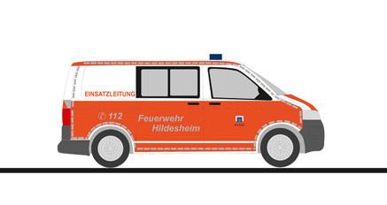 """Rietze VW T5`10 """" ELW Feuerwehr Hildesheim """", NH 11-12/20,(Vorbestellung/Modell noch nicht lieferbar !!)"""