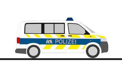 """Rietze VW T5`10 """" Polizei Basel Stadt (CH) """", NH 11-12/20,(Vorbestellung / Modell noch nicht lieferbar !!!)"""