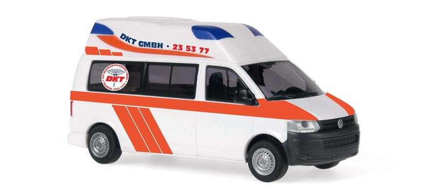 Rietze VW T5 Hornis Silver DKT Rettungswagen  Hamburg -Einzelstück-