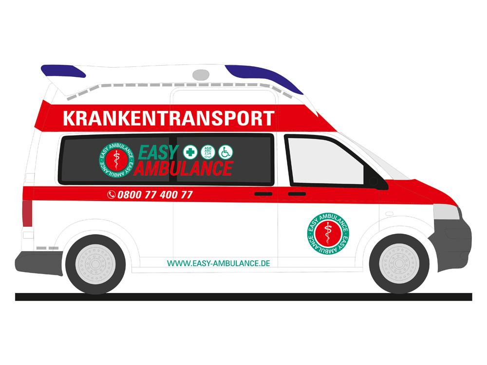 Rietze VW T5 KTW Easy Ambulance, NH 05-06/19