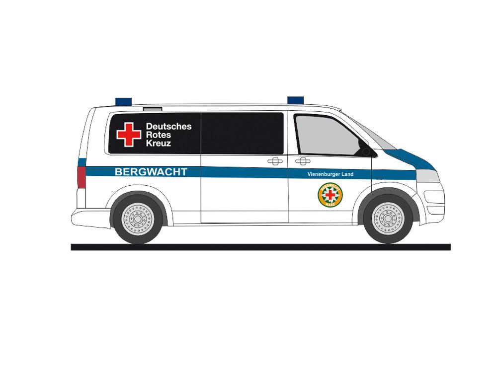 Rietze VW T5 `10 Bergwacht Vienenburger Land, Goslar, NH 01-02/19;(Vorbestellung / Modell noch nicht lieferbar !!!)