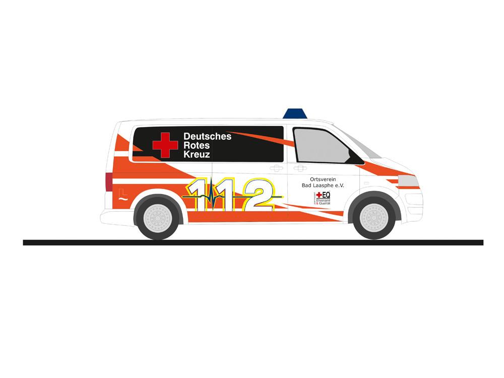Rietze Einsatz-Serie VW T5`10 NEF DRK Bad Laasphe, NH 07-08/19